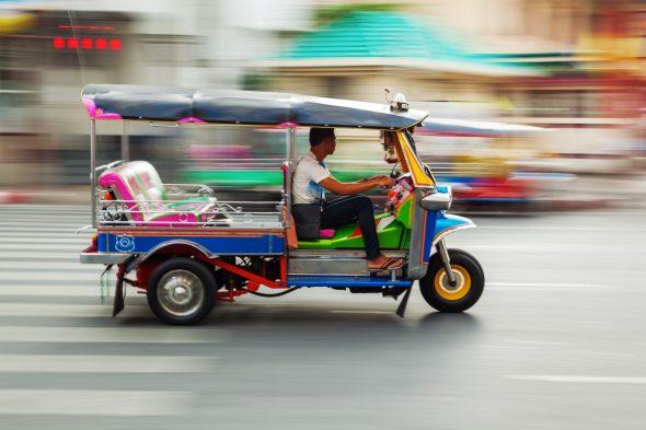 Tuk-tuk i Bangkok.