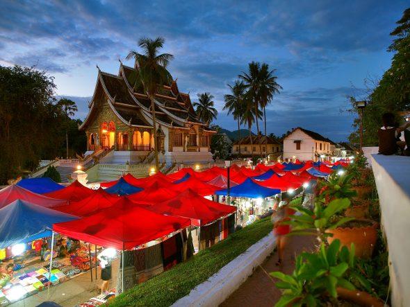 Nattmarked i Luang Prabang