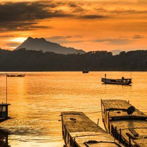 solnedgang Luang Prabang Laos