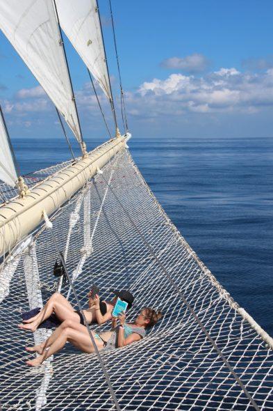 avslapning på seilskutecruise
