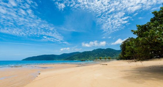 sandstrand i Malaysia